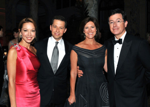 Stephen Colbert and Jon Cryer at The Tony Awards