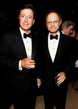 Stephen Colbert and David Hyde Pierce Tony Awards